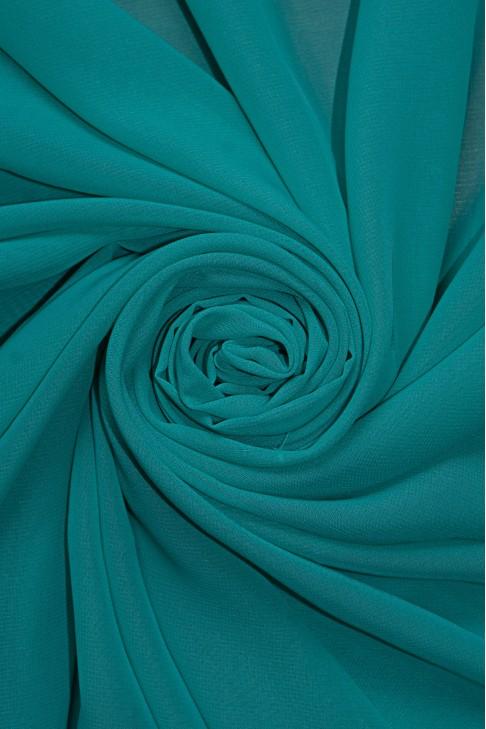 01777 Шифон Lot  A цв. 39 бирюза зеленая