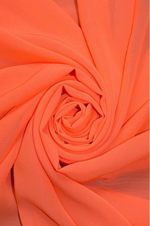 01777 Шифон Lot  A цв. 46 ультра оранжевый