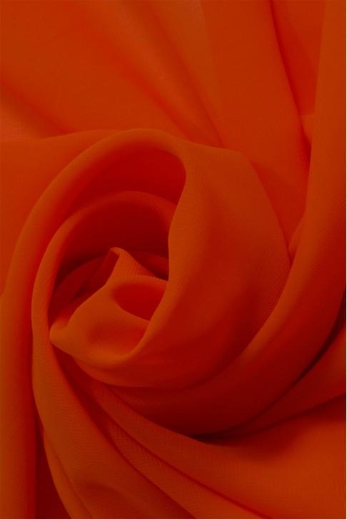 01777 Шифон Lot  A цв. 52  оранжевый