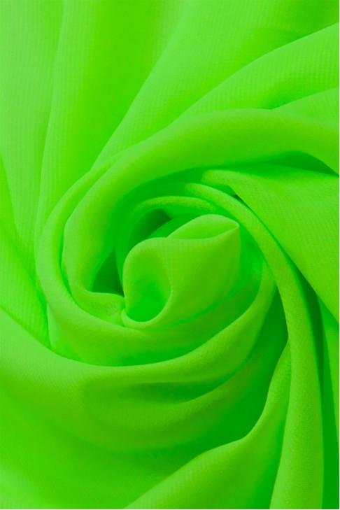 01777 Шифон Lot  A цв. 57 ультра салатовый
