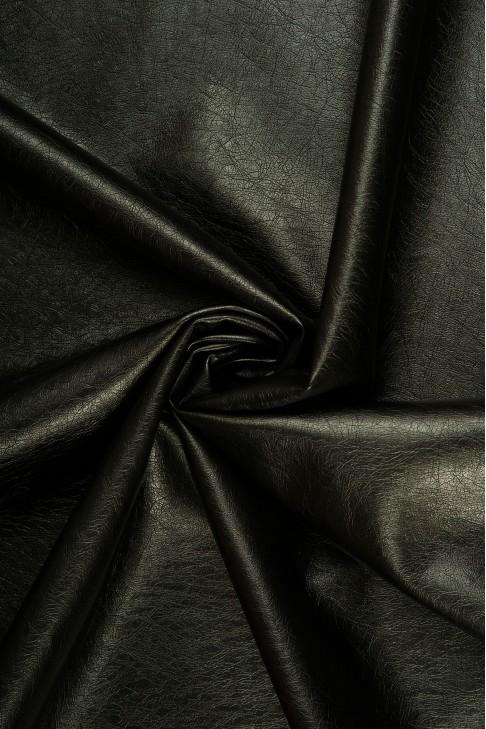 02069 Кожзам на хлопковой основе  цв. 01 черный