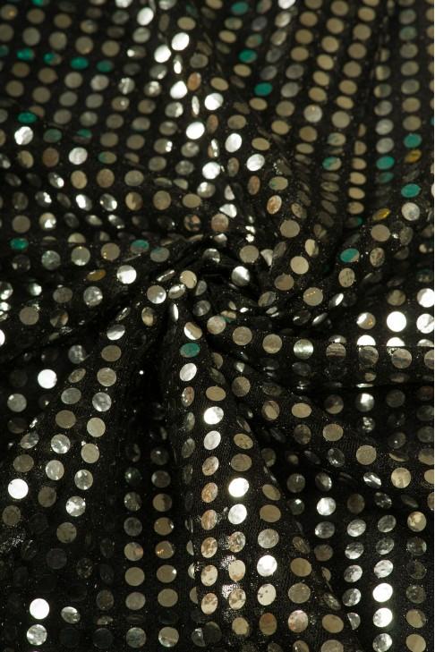 01518 Чешуя цв.14 серебро + черный