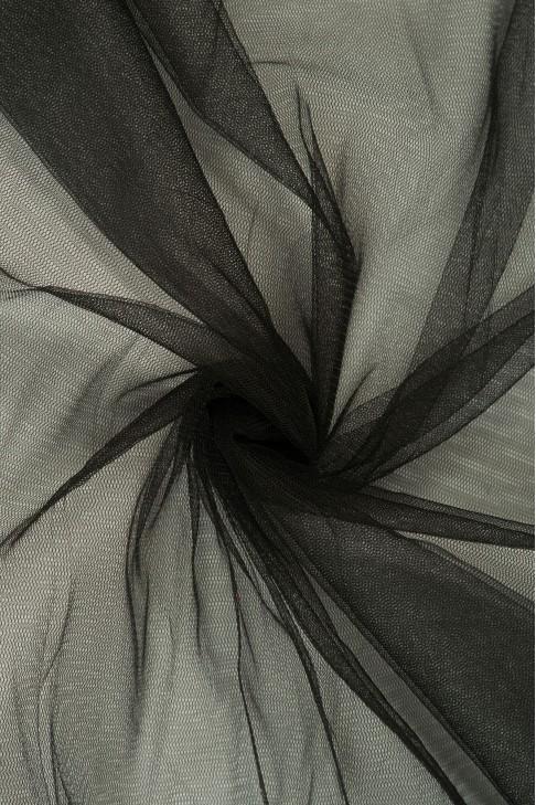 01659 Фатин мягкий цв.01 черный
