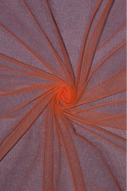 01659 Фатин мягкий цв.21 морковный