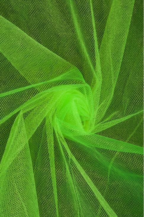 01060 Фатин с блеском цв.30 ультра - салатовый