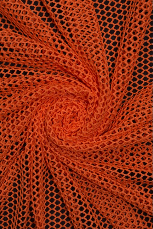 1225 Сетка крупная цв.01 оранжевый