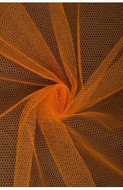 01680 Фатин жесткий цв.08/17 оранжевый