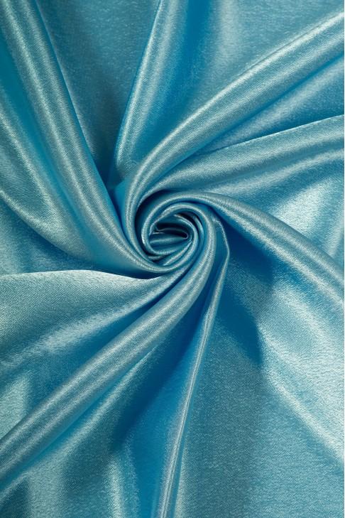 01026 Креп сатин цв.16 небесно - голубой