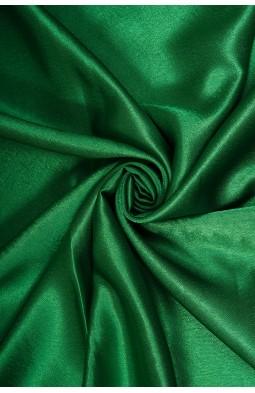 01026 Креп сатин цв.101 т.зеленый