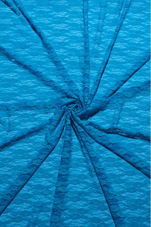 03041 Гипюр стрейч цв.ярко-голубой