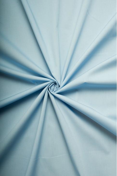 02259 Поплин цв. 10 небесно голубой
