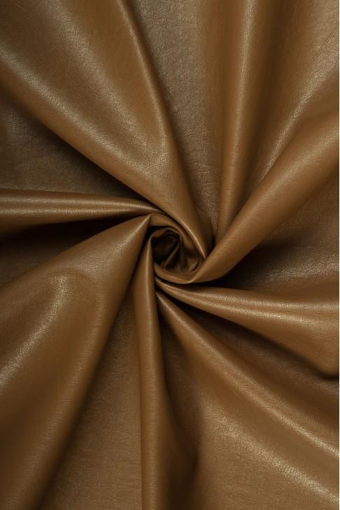 02069 Кожзам на хлопковой основе  цв. 04 коричневый