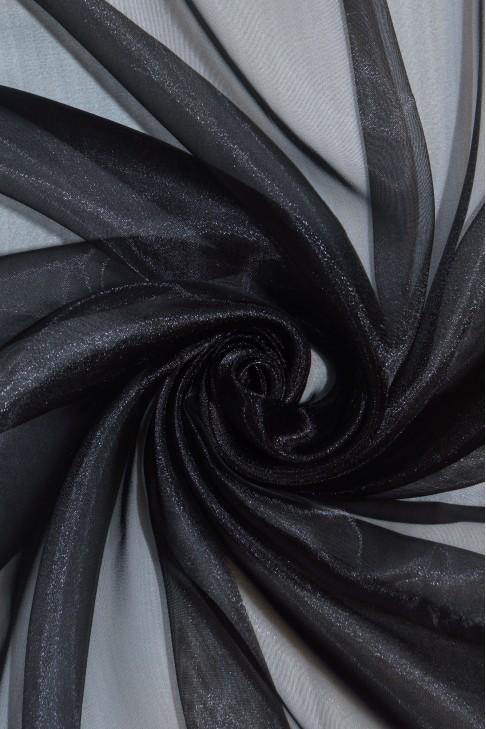 1012 Органза цв.01 черный