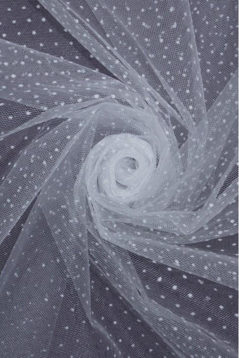 1681 Фатин точка диз.03 цв.белый
