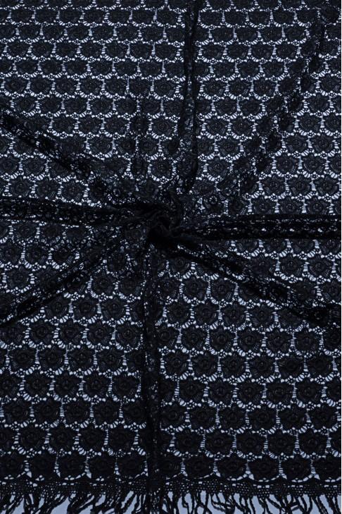 03020 Гипюр набивной диз.01 цв.01 черный