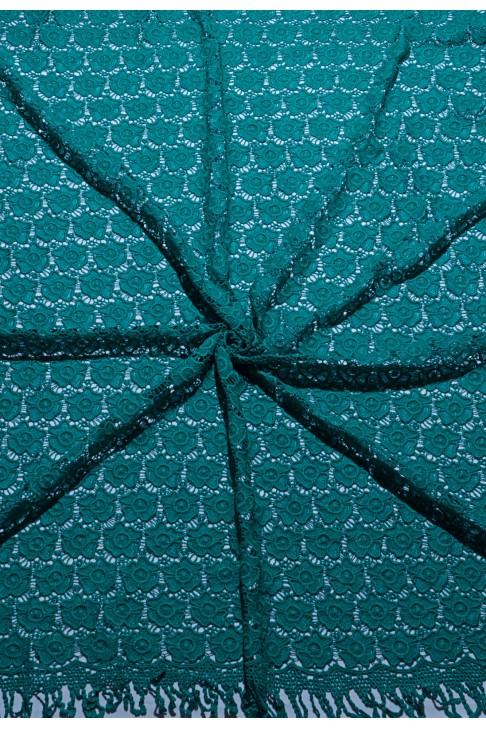 03020 Гипюр набивной диз.01 цв.02 морская волна