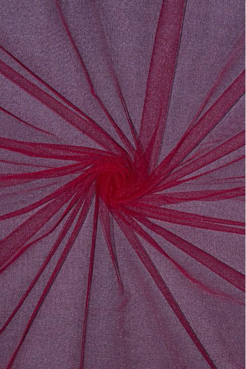 01659 Фатин мягкий цв.25 вишневый