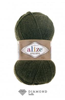 Альпака Роял цв.567 зеленый меланж