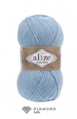 Альпака Роял цв.356 голубой