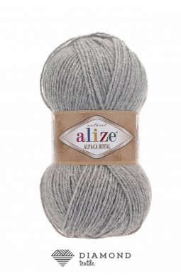 Альпака Роял цв.21 светло-серый меланж
