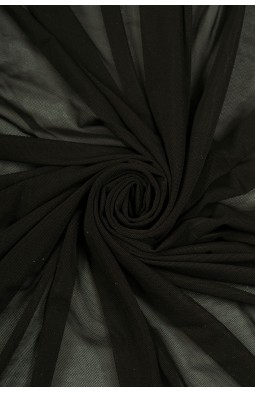 2521 Сетка - стрейч цв. 01 черный