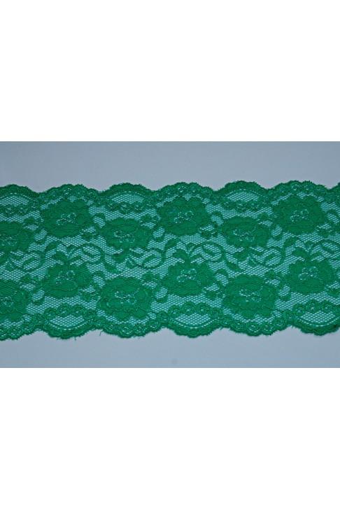 03051 Кружево стрейч цв.зеленый