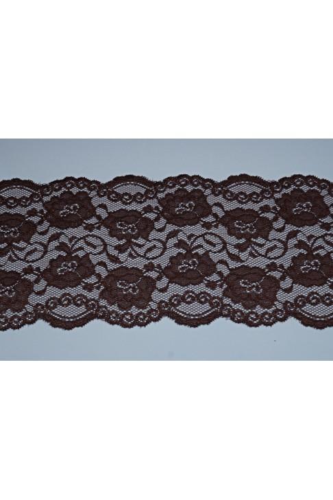 03051 Кружево стрейч цв.коричневый