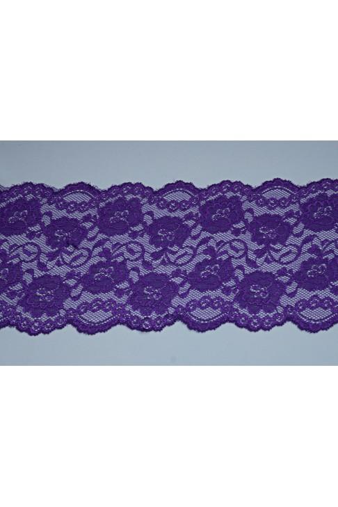 03051 Кружево стрейч цв.фиолетовый
