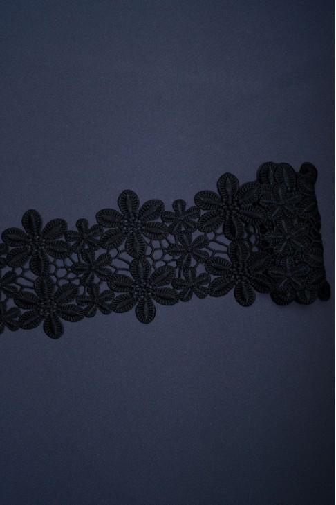 01653 Кружево макраме цв.черный