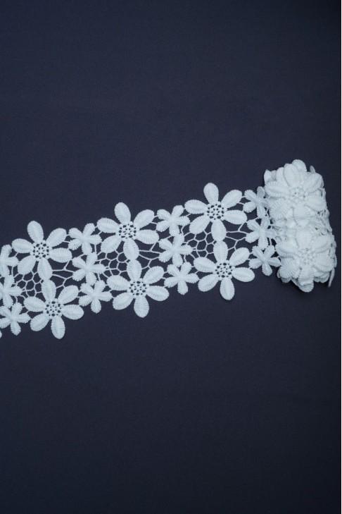 01653 Кружево макраме цв.белый