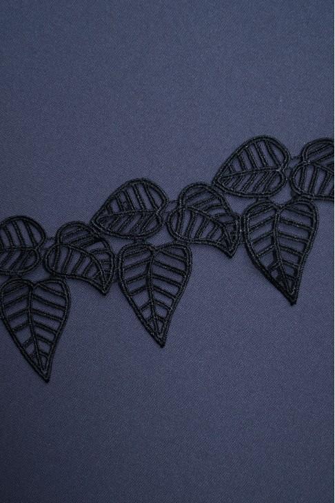 01762 Кружево макраме цв.черный