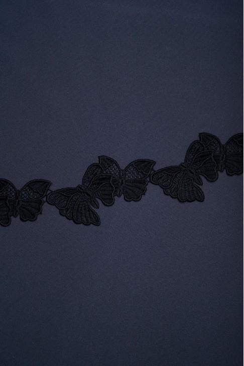 01780 Кружево макраме цв.черный