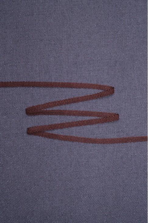04163 Тесьма  цв.коричневый