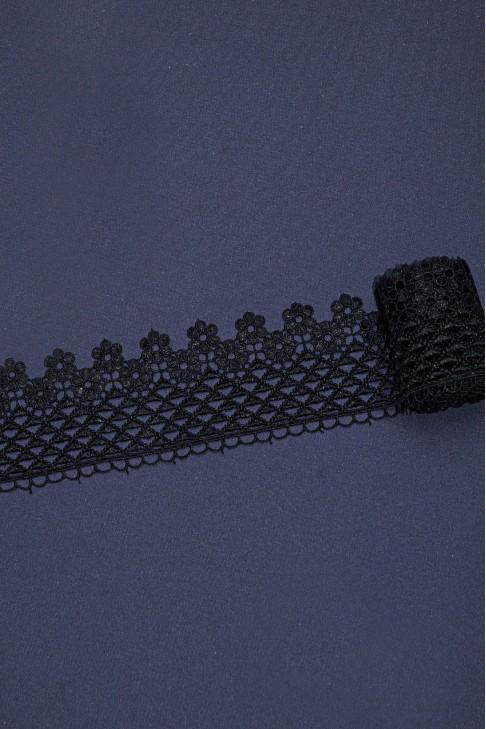 0019 Кружево макраме цв.01 черный