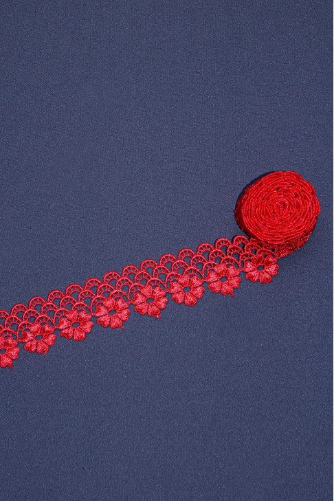 00420 Кружево макраме цв.22 красный