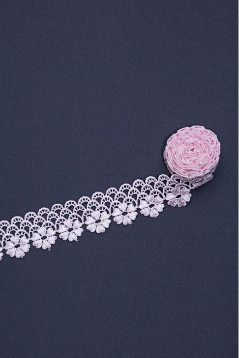 00420 Кружево макраме цв.02 розовый