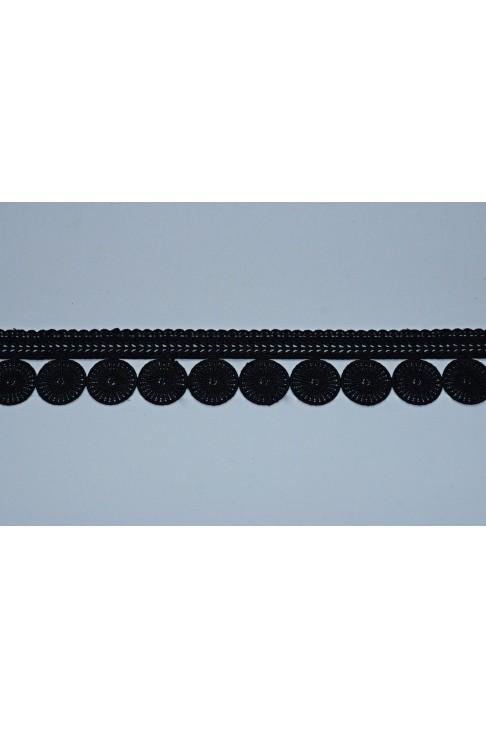 0175 Кружево макраме цв.черный