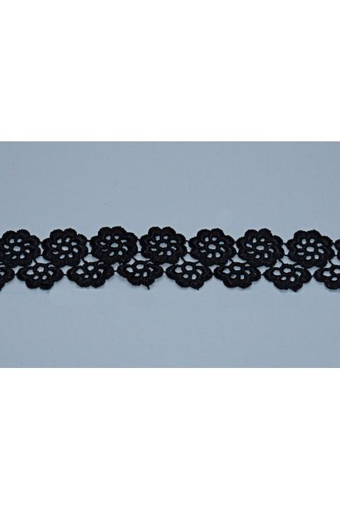 05117 Кружево макраме диз.301185 цв.черный