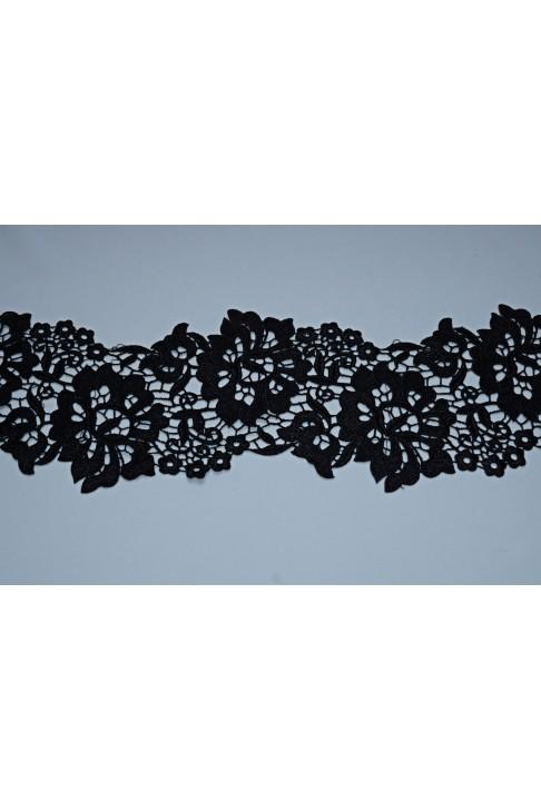 15044 Кружево макраме цв.черный