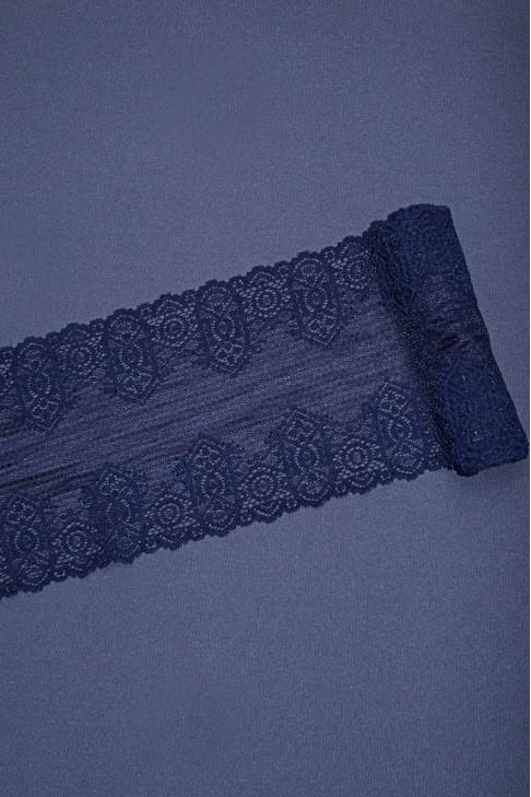 009 Кружево стрейч цв.т.синий