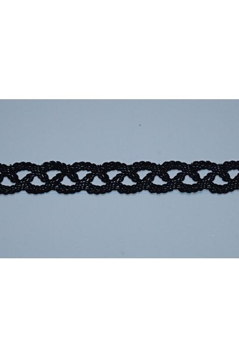 1980 Кружево макраме цв.01 черный