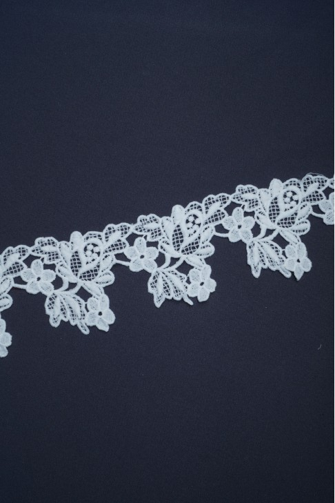 1875 Кружево макраме цв.белый