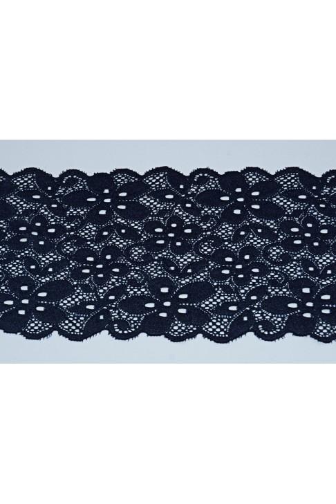 001 Кружево стрейч цв.темно синий