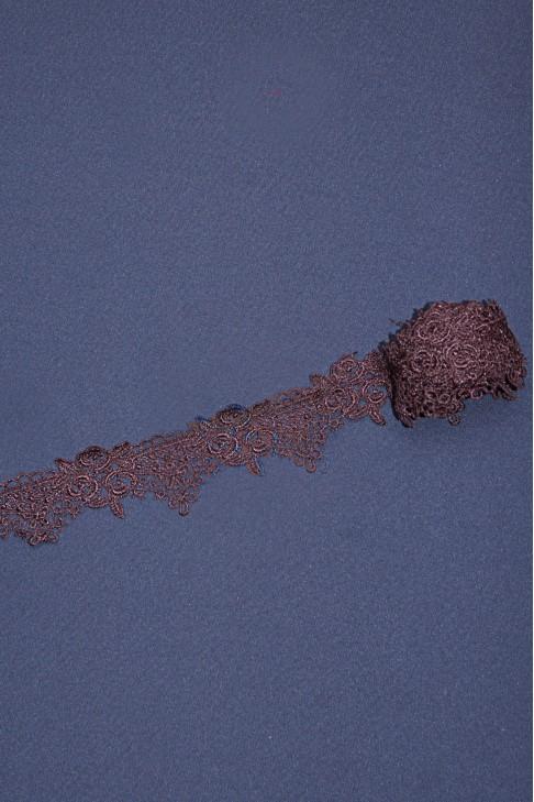 1360 Кружево макраме цв.коричневый