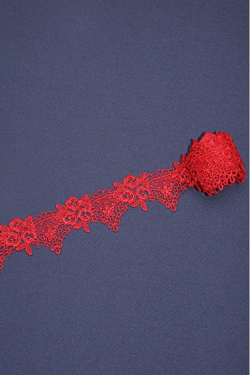 1360 Кружево макраме цв.05 красный