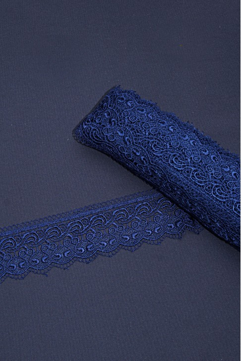 15125-1 Кружево макраме цв.04 синий