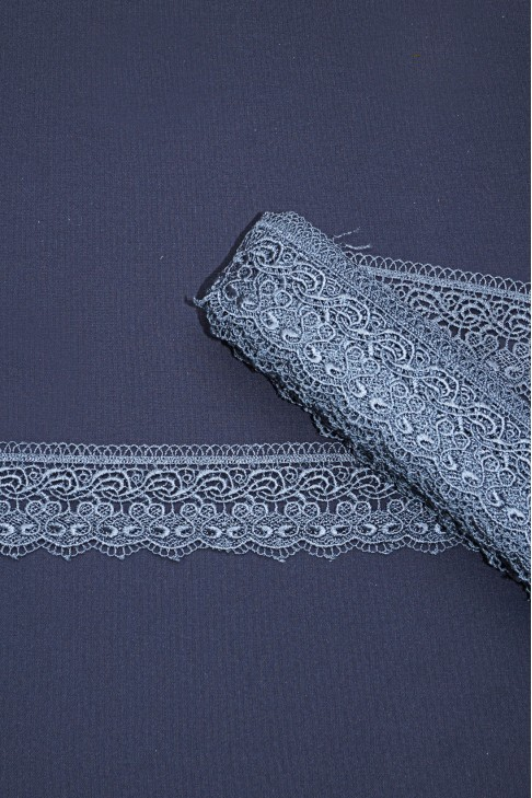 15125-1 Кружево макраме цв.17 серый