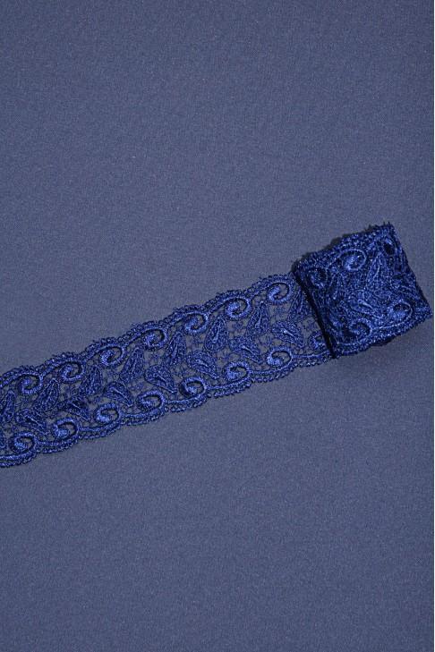 13226 Кружево макраме цв.23 синий