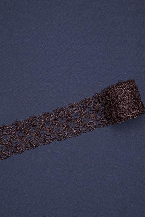13226 Кружево макраме цв.коричневый