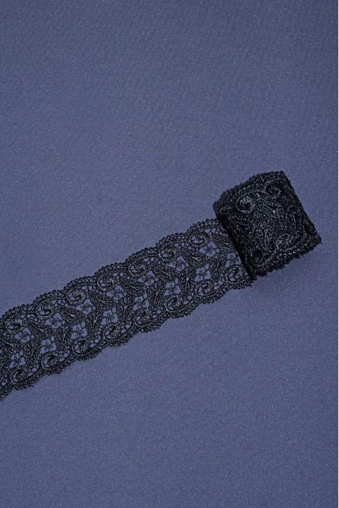 13226 Кружево макраме цв.черный